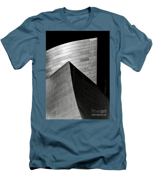 Disney Concert Hall Black And White Men's T-Shirt (Athletic Fit)