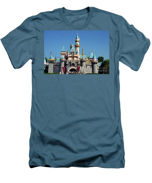 Men's T-Shirt (Slim Fit) featuring the photograph Disneyland Castle by Mariola Bitner