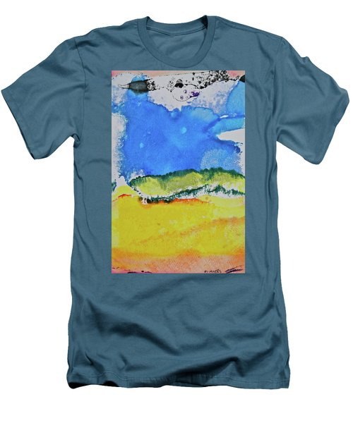 Men's T-Shirt (Athletic Fit) featuring the painting Distant Peaks by Michele Myers