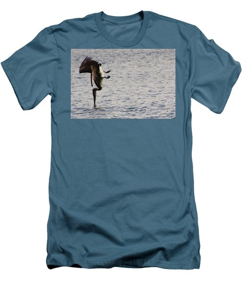 Diving Pelican Men's T-Shirt (Slim Fit) by Laurel Talabere