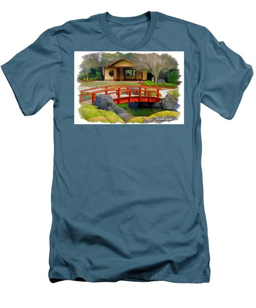 Do-00006 Cypress Bridge And Tea House Men's T-Shirt (Athletic Fit)