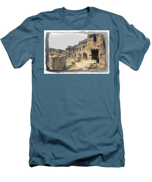 Men's T-Shirt (Slim Fit) featuring the photograph Do-00452 Inside The Ruins by Digital Oil