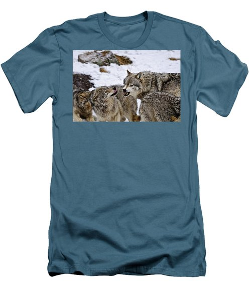 Men's T-Shirt (Slim Fit) featuring the photograph Do I Have Your Attention Now by Michael Cummings