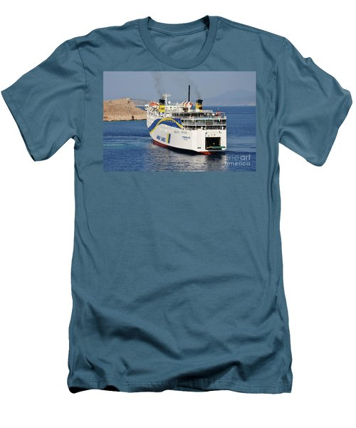 Docking Ferry On Halki Men's T-Shirt (Athletic Fit)