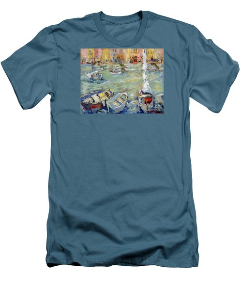 Docking In Cassis Men's T-Shirt (Slim Fit) by Sharon Furner
