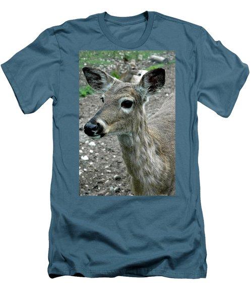 Men's T-Shirt (Slim Fit) featuring the photograph Doe Eyes by LeeAnn McLaneGoetz McLaneGoetzStudioLLCcom