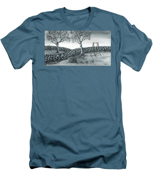 Dog House Men's T-Shirt (Slim Fit) by Kenneth Clarke
