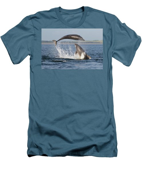 Dolphins Having Fun Men's T-Shirt (Athletic Fit)