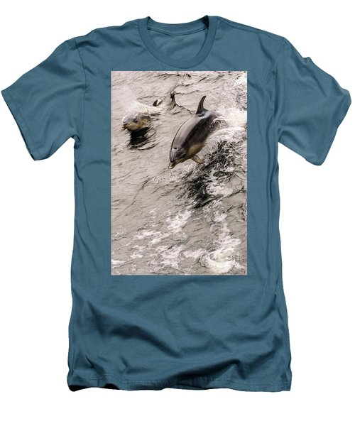 Dolphins Men's T-Shirt (Slim Fit) by Werner Padarin