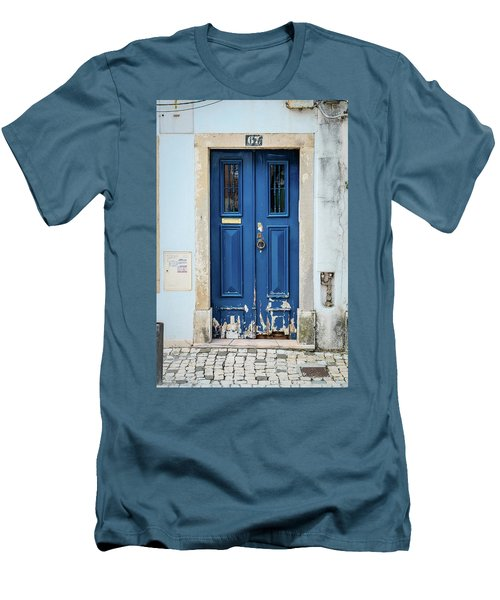 Door No 67 Men's T-Shirt (Slim Fit) by Marco Oliveira