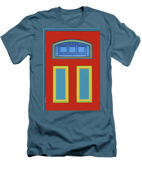 Door - Primary Colors Men's T-Shirt (Slim Fit) by Nikolyn McDonald
