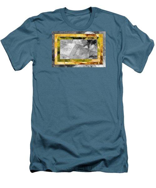 Double Framed Portrait Men's T-Shirt (Slim Fit) by Andrea Barbieri