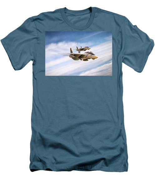 Men's T-Shirt (Slim Fit) featuring the digital art Double Nuts by Peter Chilelli