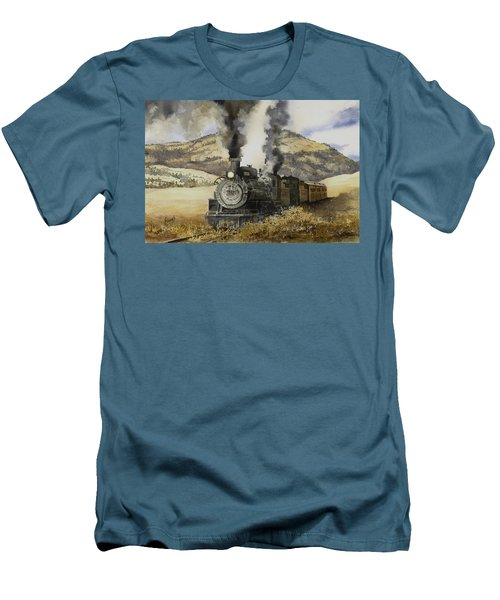 Double Teamin To Cumbres Pass Men's T-Shirt (Athletic Fit)