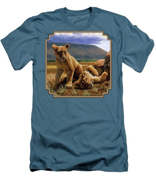 Double Trouble Men's T-Shirt (Slim Fit) by Crista Forest