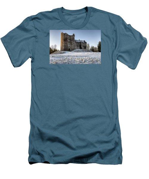 Doune Castle In Central Scotland Men's T-Shirt (Slim Fit) by Jeremy Lavender Photography