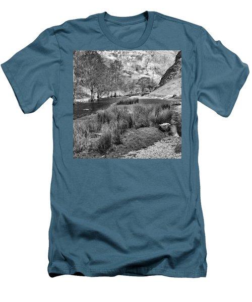 Dovedale, Peak District Uk Men's T-Shirt (Slim Fit) by John Edwards