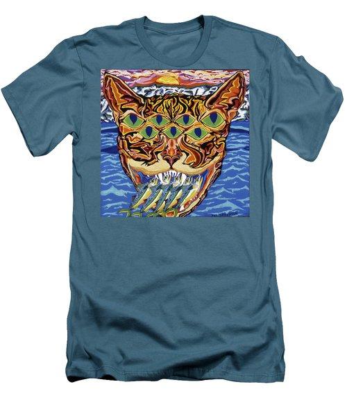Dover Cat Men's T-Shirt (Slim Fit) by Robert SORENSEN
