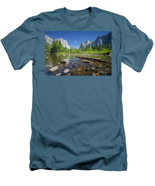 Down In The Valley Men's T-Shirt (Slim Fit) by JR Photography