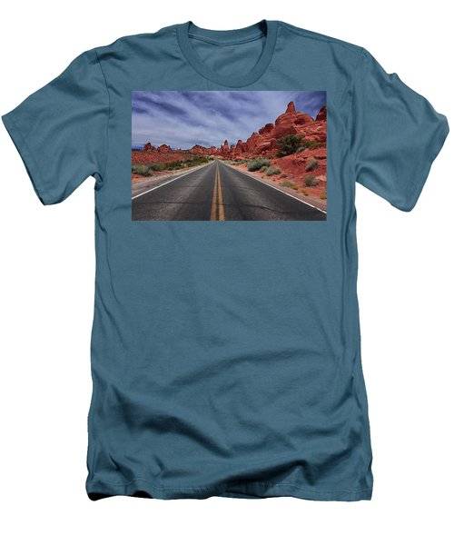Down The Open Road Men's T-Shirt (Slim Fit)