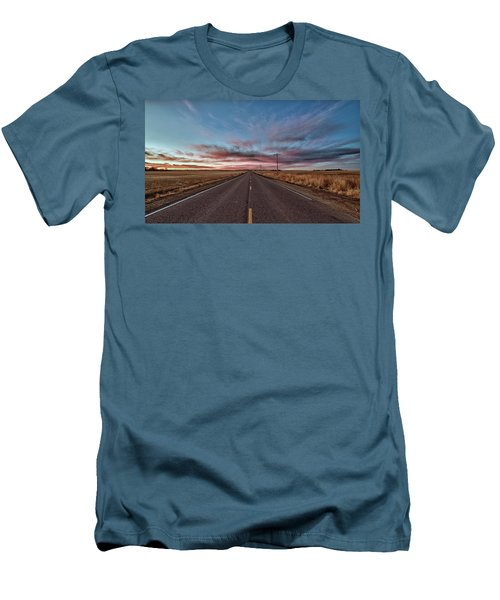 Men's T-Shirt (Athletic Fit) featuring the photograph Down The Road by Monte Stevens