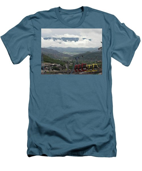 Down The Valley At Snowmass Men's T-Shirt (Slim Fit) by Jerry Battle