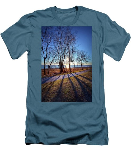 Men's T-Shirt (Slim Fit) featuring the photograph Down This Way We Meander by Phil Koch