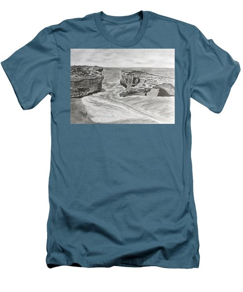 Down Under  Men's T-Shirt (Slim Fit) by Tony Clark