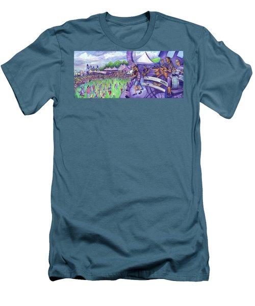 Down2funk At Arise Men's T-Shirt (Slim Fit) by David Sockrider