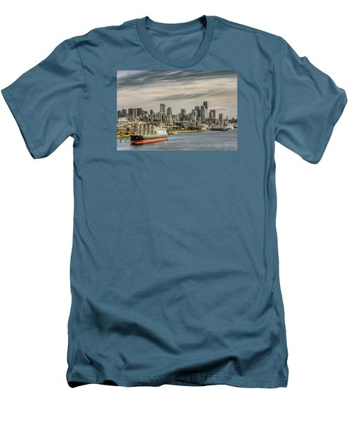 Downtown Seattle Men's T-Shirt (Slim Fit) by Lewis Mann