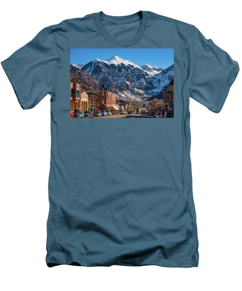 Downtown Telluride Men's T-Shirt (Athletic Fit)
