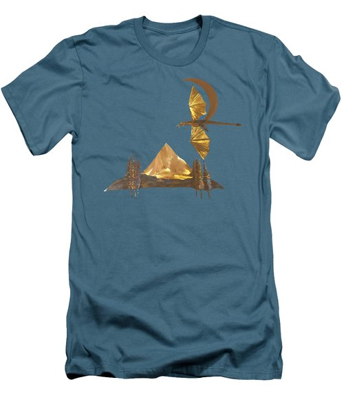 Dragon Of The Hood Men's T-Shirt (Slim Fit) by Troy Rider