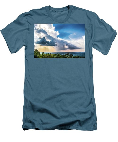 Men's T-Shirt (Slim Fit) featuring the photograph Dramatic Sunrays Over The Valley by Shelby Young