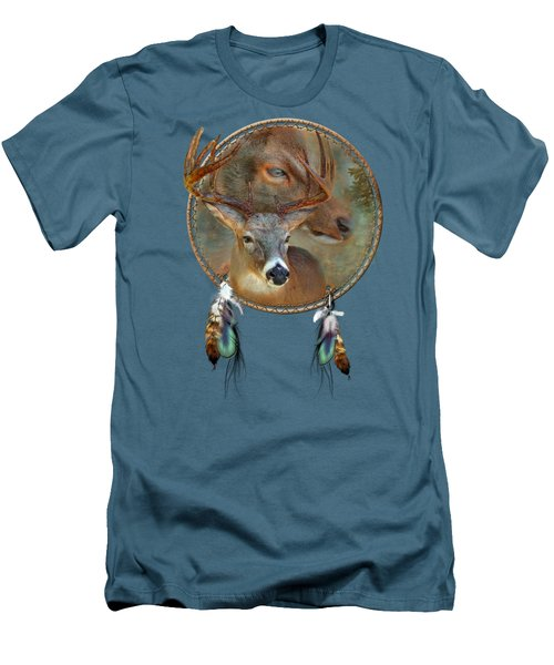 Dream Catcher - Spirit Of The Deer Men's T-Shirt (Slim Fit) by Carol Cavalaris