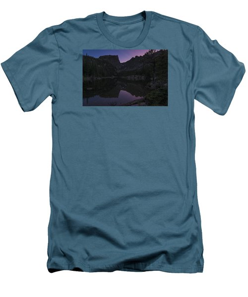 Men's T-Shirt (Slim Fit) featuring the photograph Dream Lake Reflections by Gary Lengyel