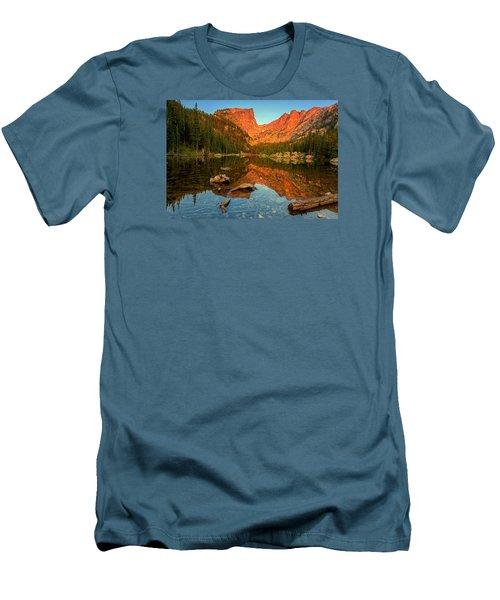 Dream Lake Sunrise Men's T-Shirt (Slim Fit) by John Vose