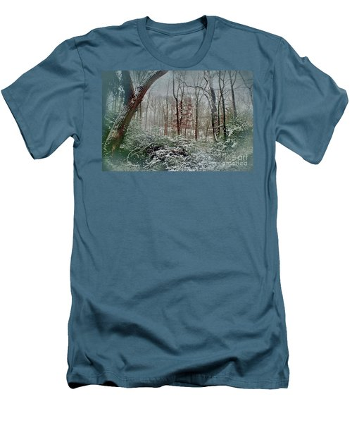 Men's T-Shirt (Slim Fit) featuring the photograph Dreamy Snow by Sandy Moulder