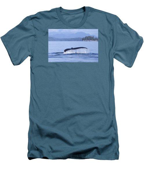 Dripping Whale Fluke Men's T-Shirt (Slim Fit) by Michele Cornelius