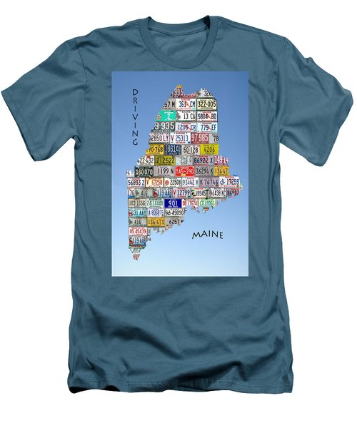 Driving Maine Men's T-Shirt (Slim Fit)