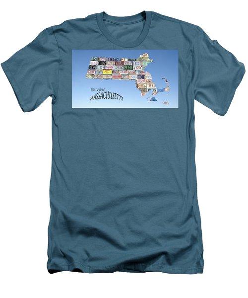 Driving Massachusetts Men's T-Shirt (Slim Fit) by Jewels Blake Hamrick