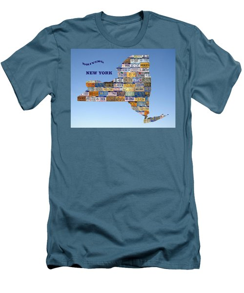 Driving New York Men's T-Shirt (Slim Fit) by Jewels Blake Hamrick