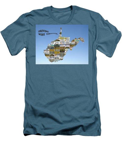 Driving West Virginia Men's T-Shirt (Slim Fit) by Jewels Blake Hamrick