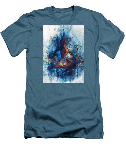 Drum Men's T-Shirt (Slim Fit) by Te Hu