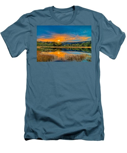 Dry Lagoon Spring Morning Men's T-Shirt (Athletic Fit)