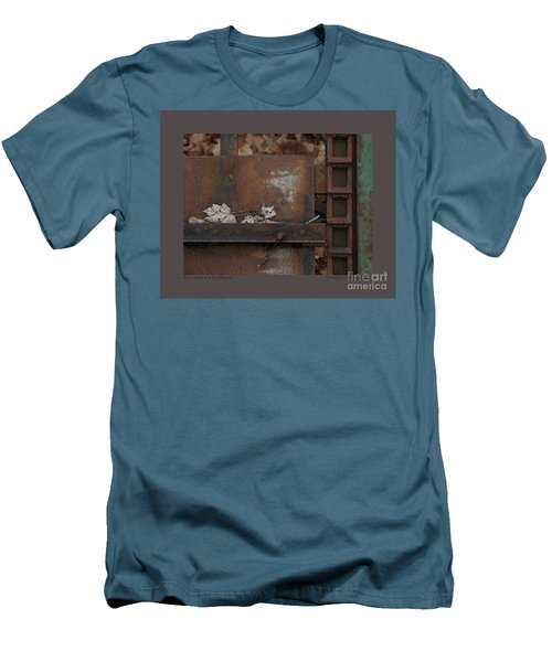 Dry Leaves And Old Steel-iv Men's T-Shirt (Slim Fit) by Patricia Overmoyer