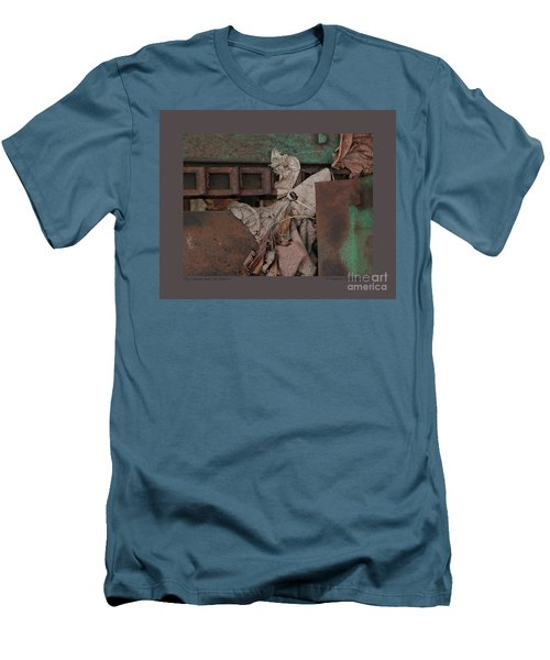 Dry Leaves And Old Steel-v Men's T-Shirt (Slim Fit) by Patricia Overmoyer