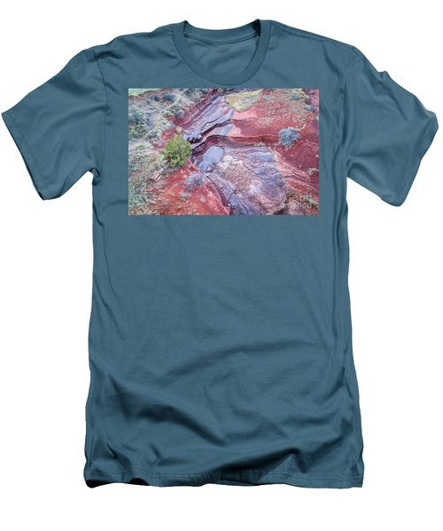 Dry Stream Canyon Areial View Men's T-Shirt (Athletic Fit)