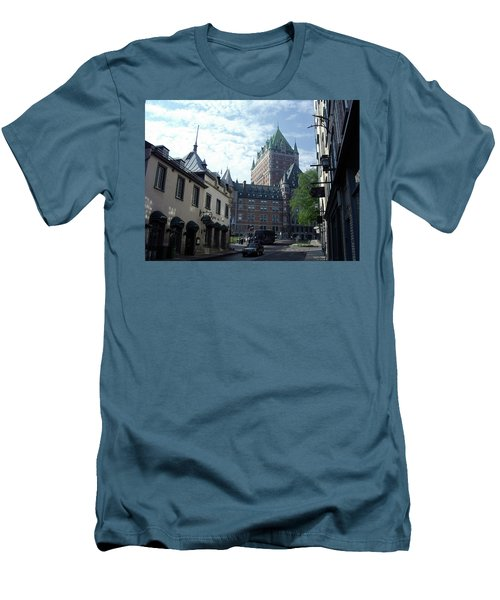 Men's T-Shirt (Athletic Fit) featuring the photograph du Fort Chateau Frontenac by John Schneider