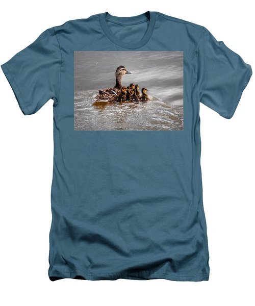 Men's T-Shirt (Slim Fit) featuring the photograph Ducky Daycare by Sumoflam Photography