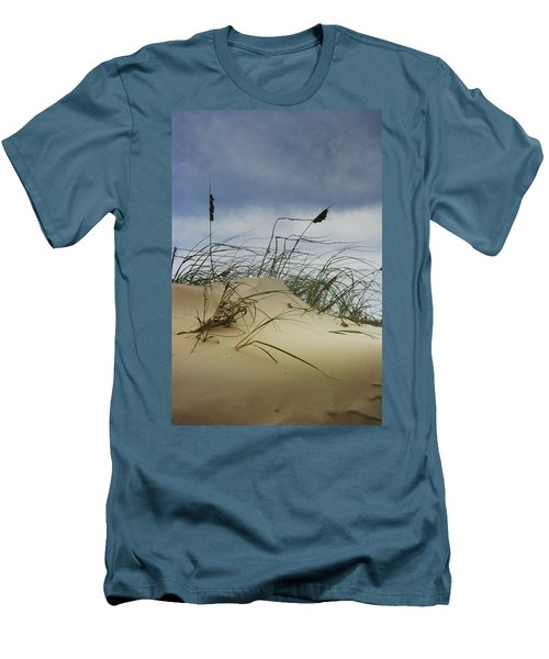 Dune And Beach Grass Men's T-Shirt (Slim Fit) by Randall Nyhof